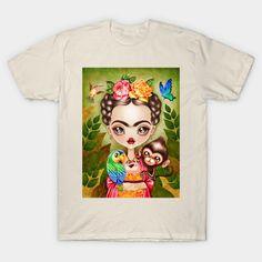New T-shirt shop launching at https://www.teepublic.com/user/sandygrafik Frida Querida #fridakahlo #fridatshirt #fridatee