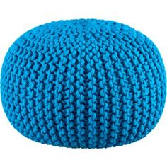 knitted pool pouf from cb2