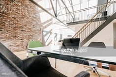 Stock Photo : Laptop on table in office