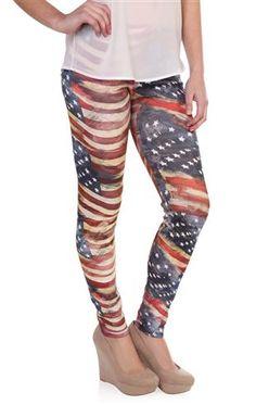 Deb Shops #american #flag #legging