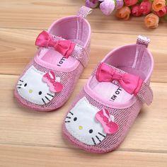 Tatlı hello kitty yenidoğan bebek yay ayakkabı kızlar prenses anti- kayma ayakkabı(China (Mainland))