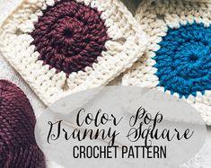PATTERN: Color Pop Granny Square | Easy Crochet Blanket Pattern