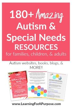 Do you have a child, teenager, or young adult with Autism? Are you feeling overwhelmed? Here is a HUGE FREE Resource for your family to download at Learning For A Purpose where you can find information about websites, blogs, books, transitions into adulthood, self-care, and MORE!