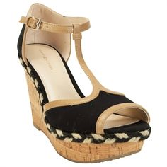 Tommy Hilfiger Veanna Peep Toe Cork Wedge at Von Maur