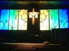 Swirly Banners | Church Stage Design Ideas