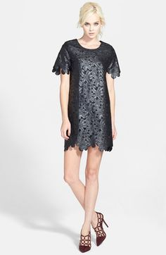 JOA Faux Leather Flower Dress from Nordstrom -- $38