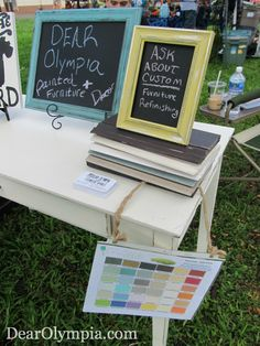 JBPH Hickam Spring Craft Fair Recap - Its Lobster Time | Craft Fair Booth | CeCe Caldwell Paint | Chalk Paint | Painted Furniture | painted chalkboard signs