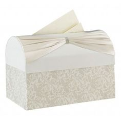 Add Elegance To Your Wedding Reception With This Ivory Card Box Is