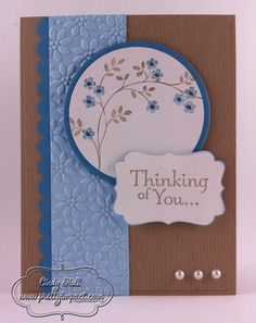 """I saw this card on Pinterest, but before I also pinned it, I wanted to make sure clicking on it would track back to the person who made the card. So this will take you to Cindy Hall's blog """"Pretty Impact""""."""