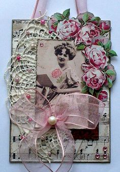 a MIXED MEDIA PIECE with a VINTAGE THEME by Cutbush, via Flickr