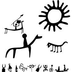 наскальная живопись Doodles Zentangles, Ancient Tattoo, Art Pariétal, Handpoke Tattoo, Emo Art, Native American Symbols, Painting Tattoo, Inspirational Artwork, Celtic Art