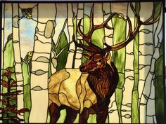 elk stained glass - Google Search