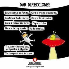 Dar direcciones. Español. Casa de las palabras. ELE.
