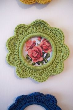 crocheted frames - Google Search