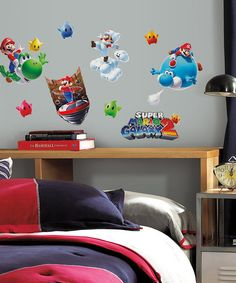 Another great find on #zulily! Super Mario Galaxy 2 Peel & Stick Decal Set #zulilyfinds