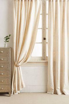 Embroidered Gretta Curtain | Anthropologie