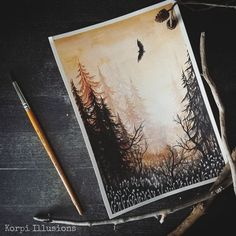 Illusion Art, Watercolor Techniques, Watercolor Art, Illusions, Doodles, My Arts, Colour, Photo And Video, Abstract