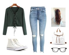 """""""Netflix"""" by kittykitkat132 ❤ liked on Polyvore featuring Converse and Charlotte Russe"""