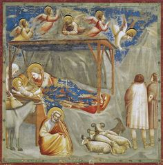 Giotto di Bondone - No. 17 Scenes from the Life of Christ - 1. Nativity - Birth of Jesus - WGA09193 adj - Giotto - Wikipedia, the free encyclopedia