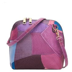 Zip Around Color Blocking Cross Body Bag Purple ($23) ❤ liked on Polyvore featuring bags, handbags, shoulder bags, color block purse, purple handbags, colorblock handbags, crossbody shoulder bag and color block handbags