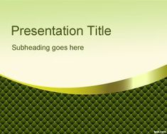 Green Kinky PowerPoint Template