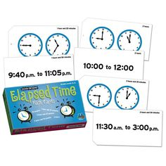 ELAPSED TIME FLASH CARDS