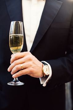 Champagne + man = yes please!