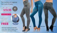 The Comfort of Leggings. The Look of Jeans.  genieslimjeggings.com
