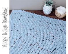 Thassos Mosaic Crochet Blanket instant download PDF pattern | Etsy Crochet Star Blanket, Crochet Star Patterns, Star Baby Blanket, Crochet Stars, Baby Afghan Crochet, Baby Patterns, Snuggle Blanket, Baby Blankets, Filet Crochet