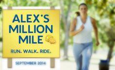 Las amigas de Alex Lemonade, nos unimos a Alex's Million Mile, durante este Mes de la Concientización del Cáncer Infantil.
