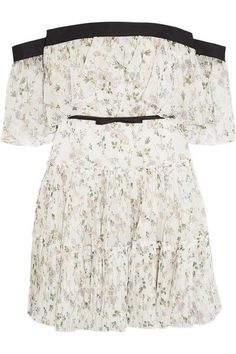 Giambattista Valli - Off-the-shoulder Ruffled Floral-print Silk-chiffon Mini Dress - Ivory - IT4