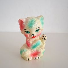 Vintage Rubber Squeak Toy Kitten Vinyl deadstock