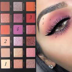 """Highly requested pictorial using the @hudabeauty """"Desert Dusk"""" palette just follow the steps and blend, blend, blend Brows:…"""