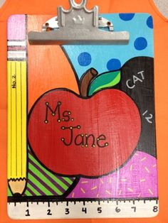 the room & crafts: Clipboard Fun! Teacher Clipboard, Clipboard Art, Diy Arts And Crafts, Room Crafts, Fall Crafts, Teacher Signs, Teacher Stuff, Teacher Wreaths, Painting Teacher