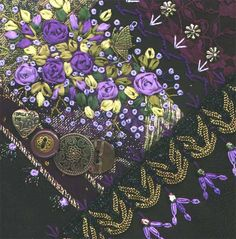 I dropped the button box quilt - crazy quilt block