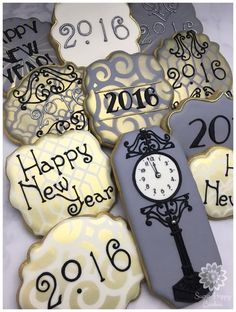 New Year's Eve, Art Deco Inspired by Sugar Happy Cookies