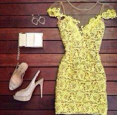 Crochet Lace Applique' Dress - JayBela