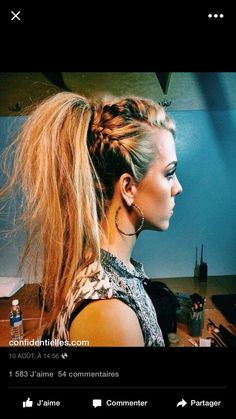 I'm not sure why, but this hairstyle reminds me of the Hunger Games in general.