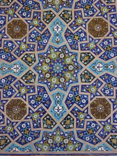 Tile detail, Jameh Mosque, Esfahan, Iran | Flickr - Photo Sharing!