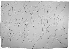 Christopher Haanes. Criminal alphabet no.5 'Prostitutes'. Ruling pen, Khadi paper, Chinese stick ink. 2013
