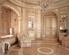 Doubt I could recreate a bathroom like this, but a girl can dream, right? :p