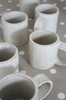 Small mug - Tom butcher Ceramics  (these look so beautiful - with perfect handles!)