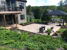This Paver patio project was installed in Mount Gretna, PA. The project consisted of approximately 850 square feet of techo bloc blu 60 paver patio. There..