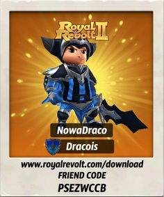 Yeah, I just hit level 14!  Download Royal Revolt 2 on your mobile device: www.royalrevolt.com/download    Start the game and get an EPIC reward by entering this friend code: PSEZWCCB