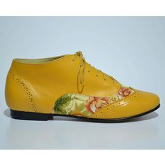 Ankle Shoe / Yellow floral by MuchaMuchachaDesign on Etsy, $60.00