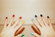 Rainbow Nails just in time for Spring!
