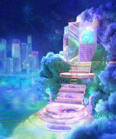 vaporwave Stairway to heaven . Neon Aesthetic, Aesthetic Rooms, Aesthetic Photo, Aesthetic Pictures, Vapor Art, Vaporwave Art, Retro Waves, Stairway To Heaven, Retro Home