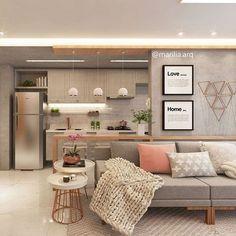 Sofá cinza: 85 ideias de como usar esse móvel versátil na decoração Living Room Interior, Home Interior Design, Living Room Decor, Dressing Room Design, Stylish Bedroom, Cuisines Design, Home And Deco, Home And Living, Living Room Designs
