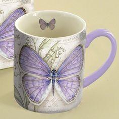 Lavender Butterfly Coffee Mug , 5021063 | Lang