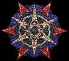 Mosaic Mandala Wall Art Kaleidoscope Star